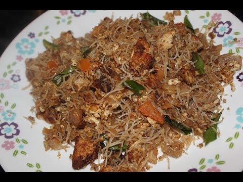 Kothu Idiyappam - Spiced Rice Noodles!!!