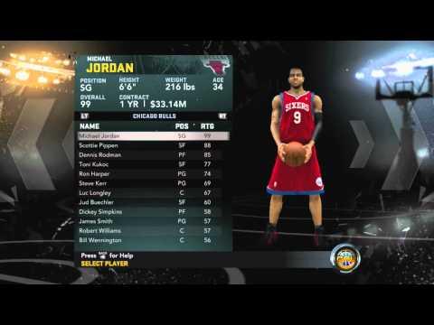 NBA 2k12: Unlock Jordan Create A Lengend