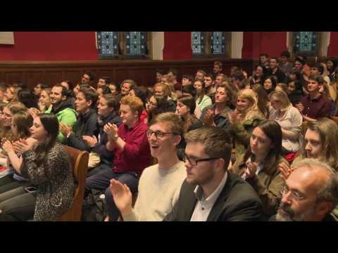 James Blunt Emotional Live Performance At OxfordUnion 2016   Goodbye My Lover And You're Beautiful 