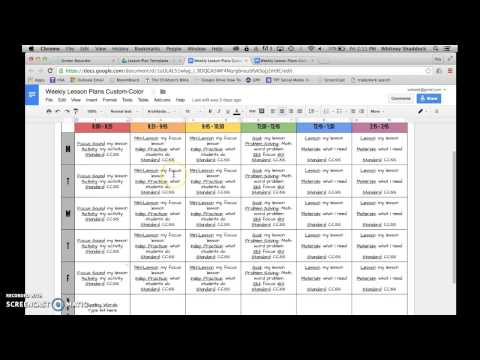Lesson Plan Templates: Google Drive