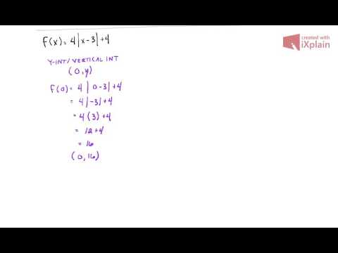 MATH 141 - 2.5 - Absolute Value -  X and Y Intercepts Part 1