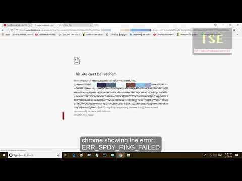 ERR_SPDY_PING_FAILED Google Chrome error