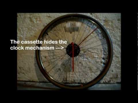 Bicycle Wheel Wall Clock - 100 Hour Challenge 2012