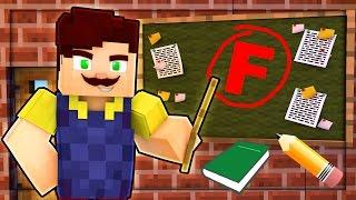 HELLO NEIGHBOR - FAILING SCHOOL! THE WORST TEACHER EVER! (Minecraft Roleplay)