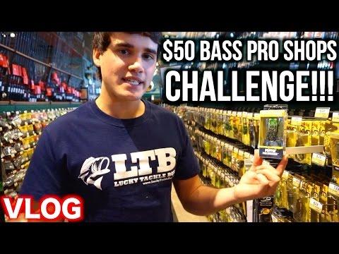 $50 BASS PRO SHOPS CHALLENGE!!! - Bass Fishing on a Budget Ep. 1