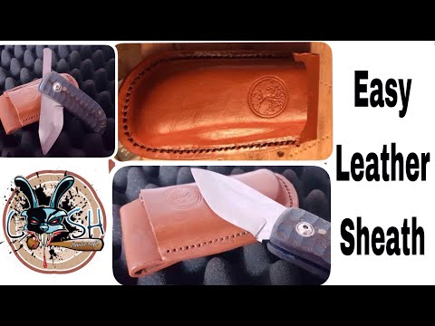 Making a wet form leather sheath for a folding knife