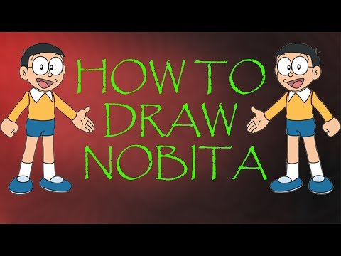 How to Draw Nobita from Doraemon cartoon - Easy Step by Step Video Lesson