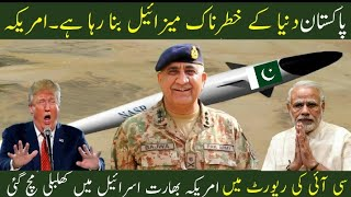 Pakistan Devolping New Types Of  Weapons : America