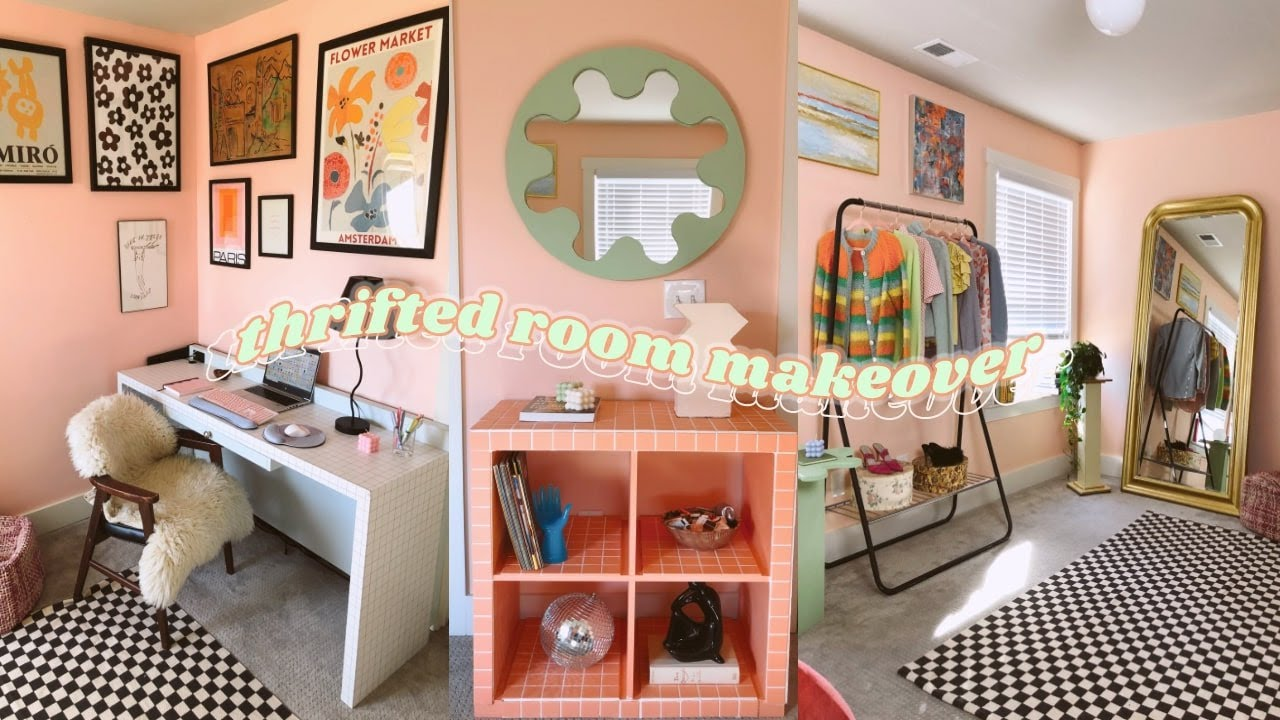 EXTREME THRIFTED ROOM MAKEOVER + TRANSFORMATION *cute aesthetic* (diy/tiktok/pinterest inspired)