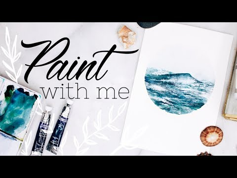 WATERCOLOR WITH ME 🌊 Ocean Waves Painting Tutorial