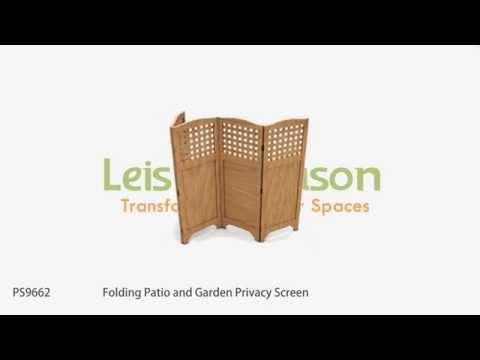 PS9662 Folding Patio and Garden Privacy Screen