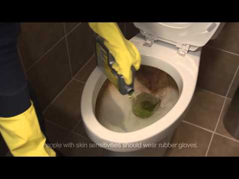 How to clean a toilet with CLR Calcium, Lime & Rust Remover & CLR Bath & Kitchen Cleaner
