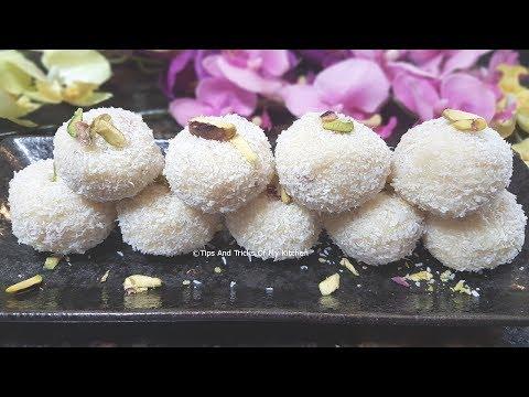 Coconut Ladoo Recipe In 5 Minutes | Quick nariyal Laddu Recipe With Condensed Milk
