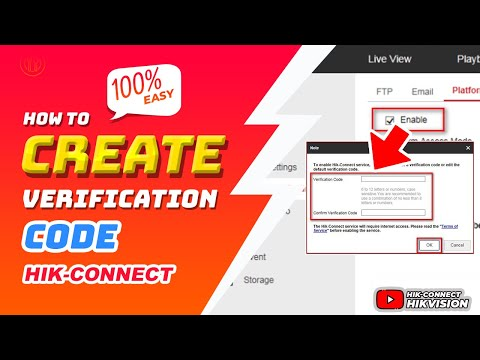 Hik-Connect | How To Create Verification Code By Self