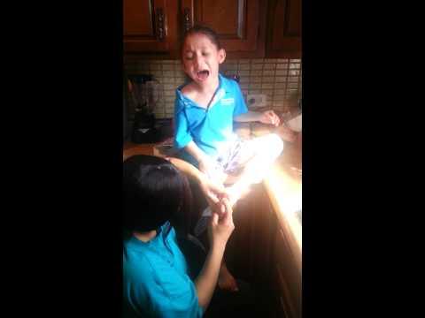 Kid with splinter