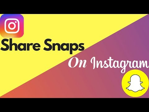How To Share Snapchat Snaps On Instagram