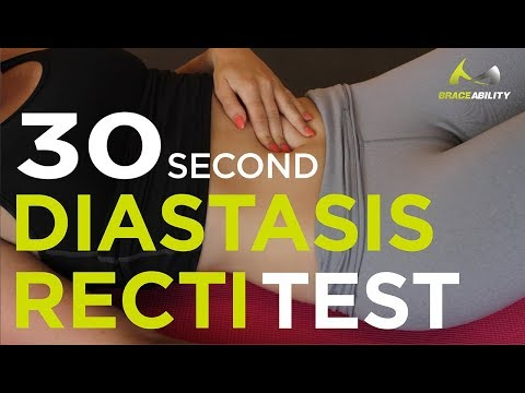 30 Second At Home Test for Diastasis Recti - Ab Separation After Pregnancy