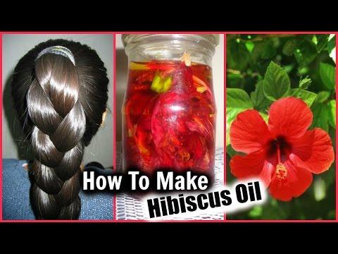 HIBISCUS HAIR OIL FOR FAST GROWTH │ HAIR OIL DIY for Long Hair, Soft Hair, Thick Hair, Hair Loss