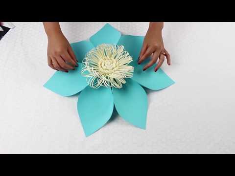 Paper Flower Tutorial Using Template #5