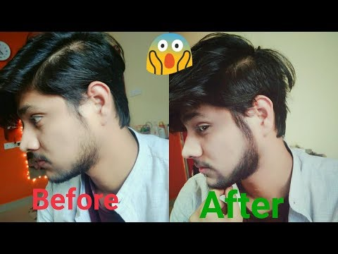 How to fill patchy beard in 3 min natural look with kajal!! Mens makeup || Beard style 2018 ||
