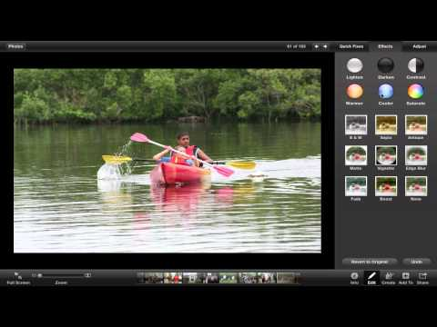 How to edit pictures in iPhoto '11