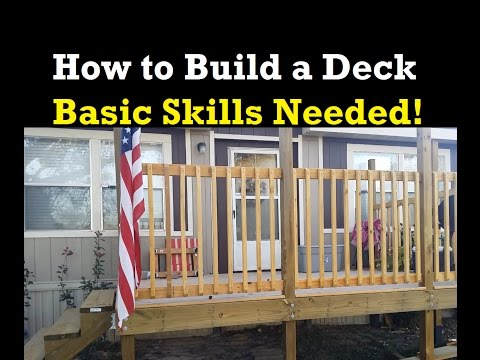 How to Build a Small Deck By Yourself