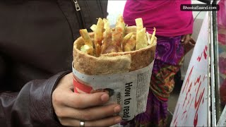 Afgani Burger, Samosa & Roti at Lajpat Nagar, New Delhi