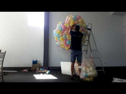 Hot Air Balloon Sculpture - Time Lapse