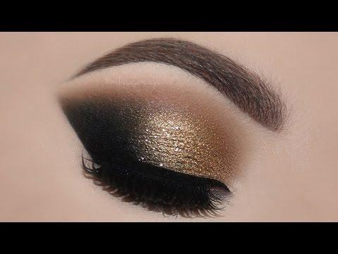 ♡ Gold Glam Cat Smokey Eyes & Perfect Skin Makeup Tutorial   Melissa Samways ♡