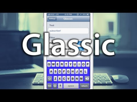 Glassic - Change iOS Keyboard Color & Filter - Change iPhone Keyboard Color