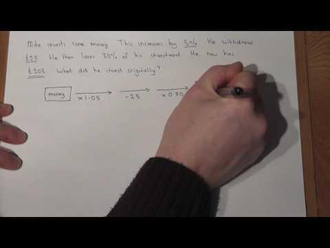 GCSE Maths: Reverse Percentages and Solving Problem