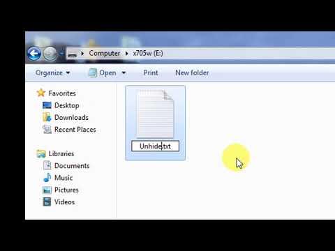 How To Unhide Files In USB Flash | របៀបបង្ហាញឯកសារដែលលាក់បាត់នៅក្នុង USB Flash មកវិញ