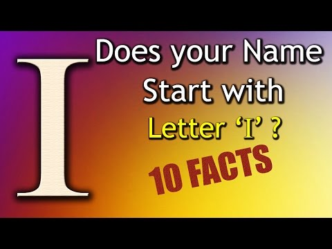 10 Facts about the People whose name starts with Letter 'I' | Personality Traits