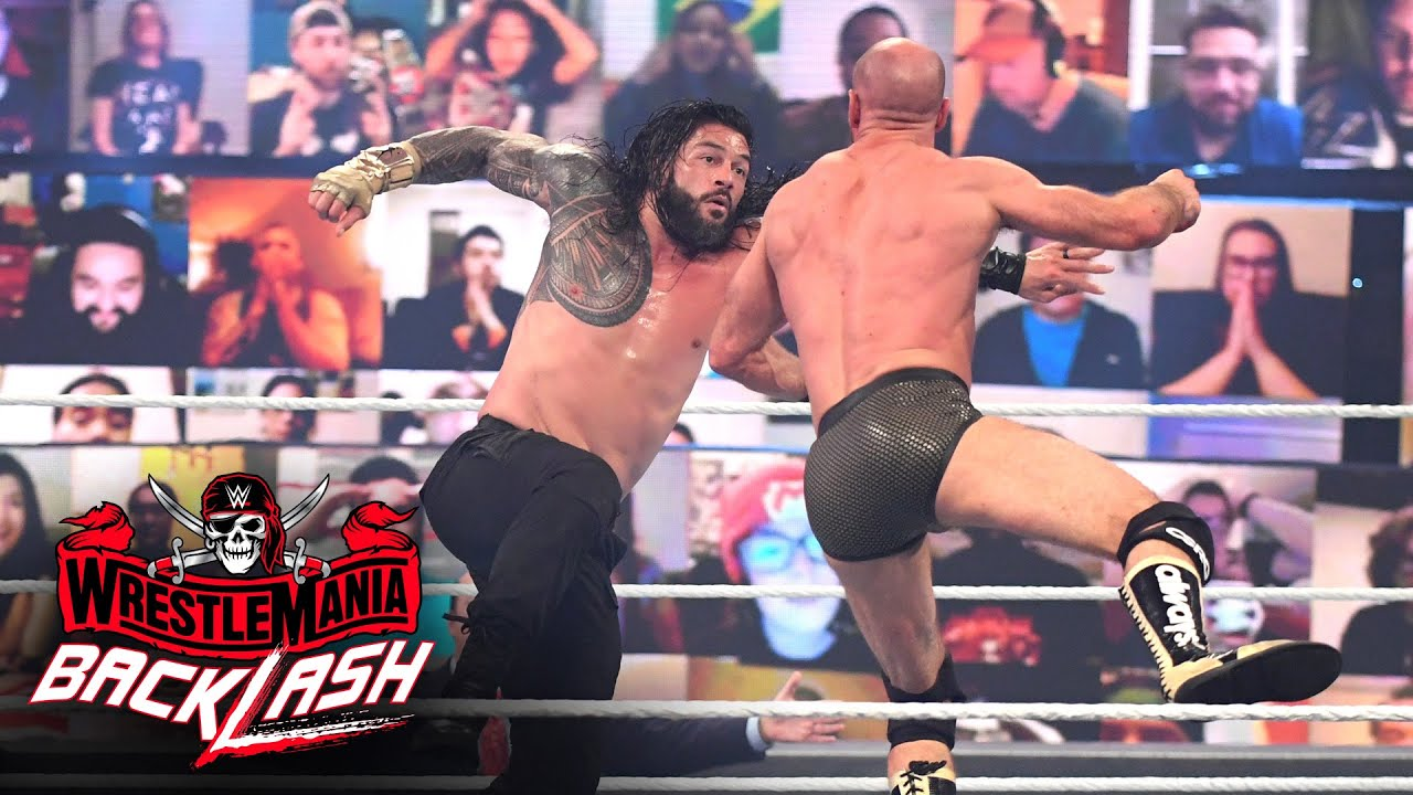 Roman Reigns levels Cesaro with a Superman Punch: WrestleMania Backlash 2021 (WWE Network Exclusive)