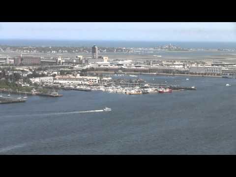 Boston: View of Harbor & Logan Airport
