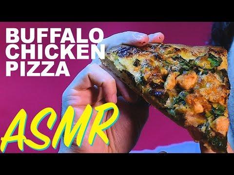 ASMR BUFFALO CHICKEN BACON RANCH PIZZA 피자 먹방