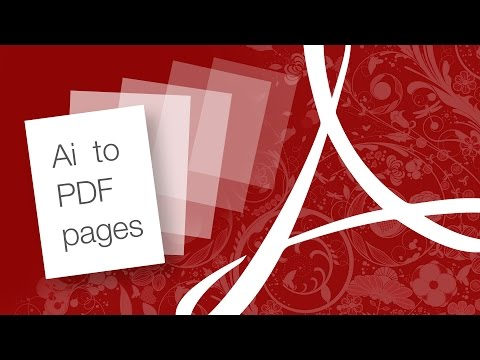 Quickly create a PDF with multiple pages from Adobe Illustrator