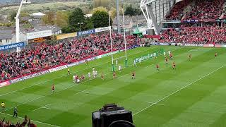 Heineken Champions Cup between Munster and Gloucester at Thomond Park Rugby.
