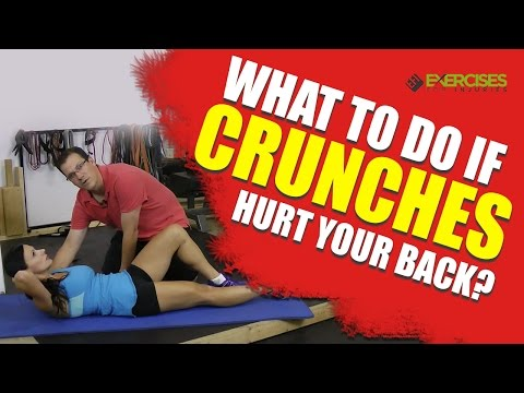What to do if Crunches HURT Your Back?