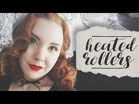 Smooth Pinup Hair || Heated Rollers