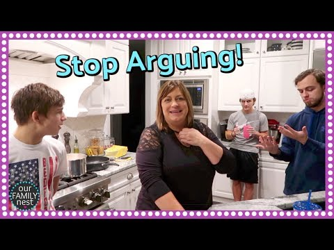 FAMILY ARGUMENTS! REAL LIFE DINNER ROUTINE!