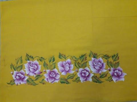 Learn Fabric Painting Kurti Border Full Design