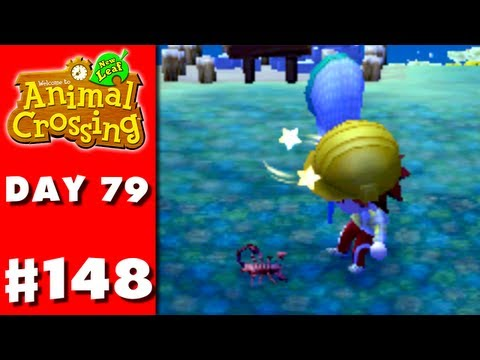 Animal Crossing: New Leaf - Part 148 - Scorpion Attack! (Nintendo 3DS Gameplay Walkthrough Day 79)
