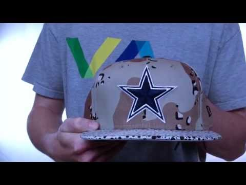 Cowboys 'DESERT STORM CAMO-HOOKED' Fitted Hat by New Era
