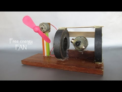 Explore free energy magnets motor fan used as free energy generator - Project science experiments