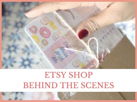 Behind the Scenes - Planner Sticker Etsy Shop | 2017 | Candied Paper
