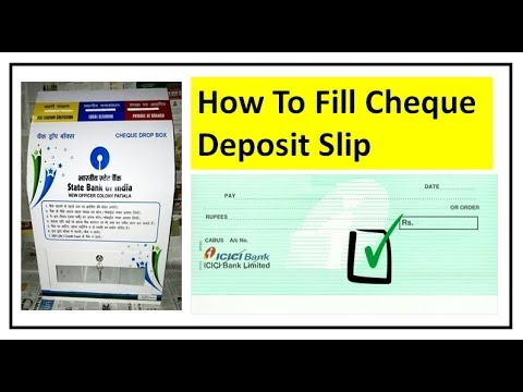 How To Fill Cheque Deposit Slip