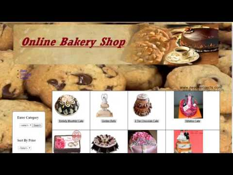 Online Bakery Shop System PHP