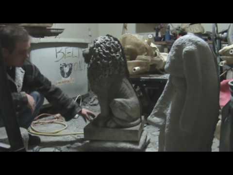 Concrete Garden Statues Part 3 , Demolding Large Lion
