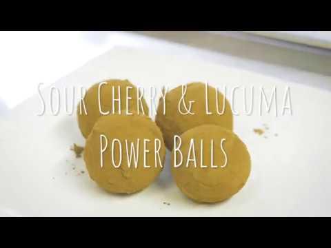 How to Make Sour Cherry and Lucuma Power Balls